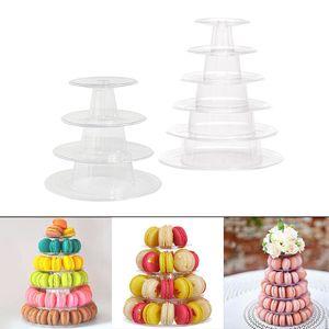 2pcs Wiederverwendbarer Macaron Ständer aus Kunststoff, transparent