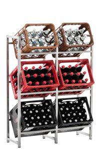 CLP Getränkekistenständer Lennert, Farbe:edelstahl, Größe:XL