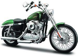 Maisto Harley-Davidson '13 XL 1200V Seventy-two: Originalgetreues Motorradmodell 1:12, Gabel und Seitenständer beweglich, 20 cm,