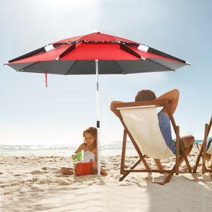 Fish Verstellbarer Sonnenschirm UV-Schutz Angelschirm Outdoor 360° mit Ständer Spike
