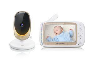 """Motorola Comfort60 Connect Babyphone mit Camera, App und Schwenk-& Zoomfunktion, Baby Monitor mit 5"""" Display, Wireless Digital HD Video mit Wi-Fi - 300 m Reichweite"""