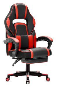 IntimaTe WM Heart - Bürostuhl mit Taillenstütze und ausziehbarer Fußstütze - Rot