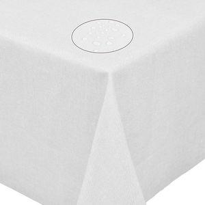 Tischdecke Leinendecke Leinenoptik Wasserabweisend Lotuseffekt Tischtuch Fleckschutz Eckig 130x130 cm Weiss