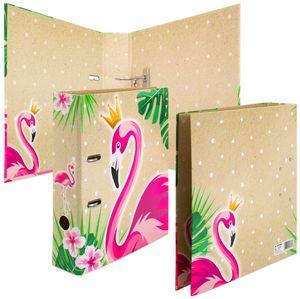 """HERMA Motivordner """"TROPICAL"""" DIN A4 Flamingo Rückenbreite: 70 mm"""