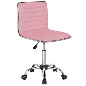 Yaheetech Bürostuhl Drehstuhl Chefsessel Kunstleder Schreibtischstuhl Ergonomischer Bürodrehstuhl höhenverstellbar Belastbarkeit 120 kg Schwarz