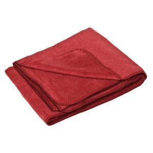 Flauschige Baumwolldecke - regional hergestellt, bordeaux, 150 x 200 c