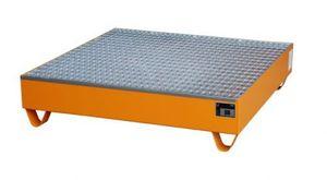 Bauer GmbH Auffangwanne lackiert mit Gitterrost 2032, lackiert orange RAL 2000