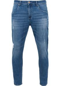 Urban Classics Skinny Ripped Stretch Denim Pants TB1606 blue washed, Hosengröße:32