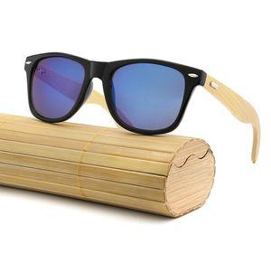 Neue Bambus Sonnenbrille Holz Holz Herren Damen Retro Vintage Sommerbrille