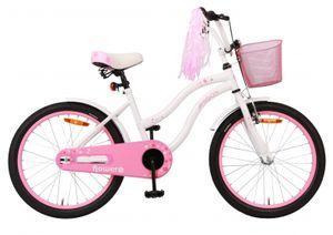Amigo Flower - Kinderfahrrad für Mädchen - Mädchenfahrrad 20 zoll - Kinderfahrader ab 5-8 Jahre - Weiß