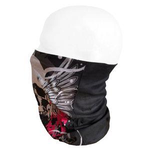 Oblique Unique Multifunktionstuch Schlauchtuch Halstuch Loop Mundschutz Outdoor Motorrad - Totenkopf mit Flügeln