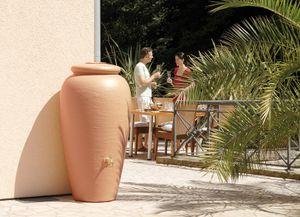 Regentonne 500 Liter Garantia Mediterrane Regen Amphore terrakotta