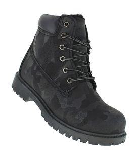 Art 225 Camo Winterstiefel Outdoor Stiefel Winterschuhe Herrenstiefel Herren, Schuhgröße:45