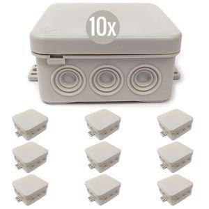 10x Feuchtraum Abzweigkasten IP54 Aufputz Abzweigdosen Sparpack Verteilerdosen
