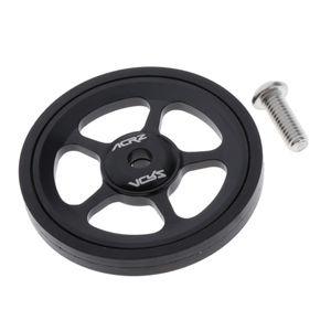 Premium Easy Wheel Felge Ultraleichte Aluminiumlegierung Gummi Rad für Brompton Farbe Schwarz
