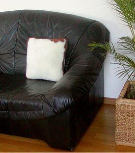 Kissen, Wollkissen mit Füllung beige aus reiner Merino Wolle, waschbar, 40x40 cm