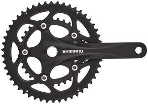Shimano FC-R345 Kurbelgarnitur 50/34 2x9-fach schwarz Kurbelarmlänge 175mm