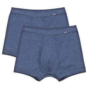Ammann 2er Pack Jeans Pant Unterhose kurz mit Eingriff Im sportlich-klassischem Schnitt, Aus strapazierfähiger Baumwolle, Mit Weichelastikbund