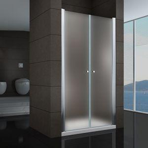 i-flair Duschtür 84-88 cm - Höhe: 180 cm, Duschabtrennung aus satiniertem 6 mm Sicherheitsglas mit Nanobeschichtung