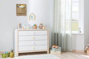 Cilek Montessori Kinderkommode Weiß / Natur