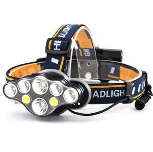Stirnlampe, 8 LED 18000 Lumen Kopflampe, Superheller USB Wiederaufladbare Wasserdicht Leichtgewichts Stirnleuchte