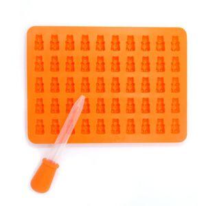 Süßigkeitenform Gummibären Silikon orange