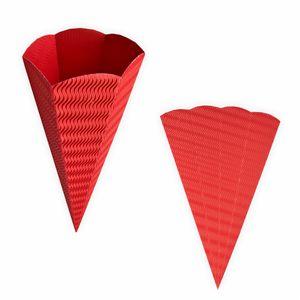 Creleo - Schultüten rot aus 3D Wellpappe 68cm 5 Stück - Zuckertüte als Rohling zum basteln, bemalen und bekleben