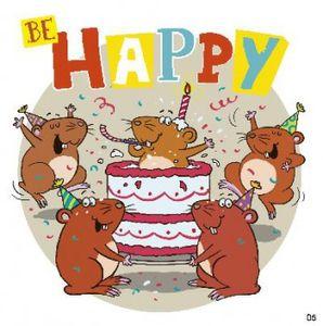 Geburtstagskarte mit Musik 3868-005c Be HAPPYHeute ist ein ganz besonderer Tag! Du hast Geburtstag. Lass dich verwÜhnen und hab viel SpaÜ!