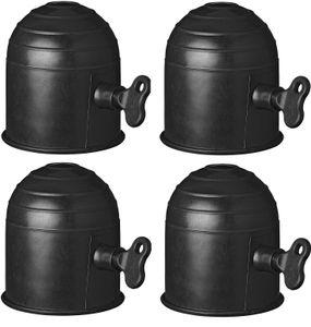 4 Schutzkappe abschließbar AHK Schloss Anhänger Kappe Anhängerkupplung Abdeckung