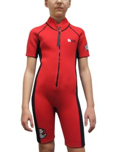 iQ-Company Kinder Neopren Anzug, Shortie in rot, Grösse 116 für Kinder, 6951422362-6y116