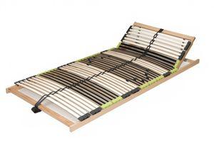 DaMi 7 Zonen Buche Lattenrahmen zerlegt Lattenrost Relax Kopf verstellbar inkl. 6 fache Härteverstellung 100 x 200 cm