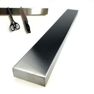 Edelstahl Messerhalter 40cm | Magnetleiste Messerblock | Magnet Messerleiste Küchenmesser | universal Messer Leiste Magnetisch