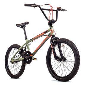 breluxx® 20 Zoll BMX TOTEM olive, 360° Rotor-System, Freestyle Freilauf - inkl. 4 Pegs,  EU