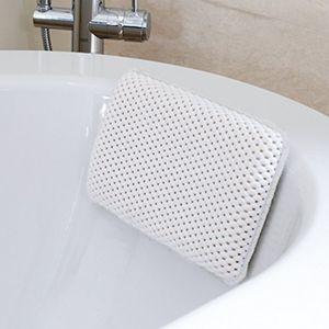 Badewannenkissen mit 8 Saugnäpfen, antibakteriell, rutschhemmend, waschbar 29 x 20 x 4.5cm