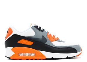 Nike Air Max 90 EU Gr.43 NEU Herren Sneaker Schuhe Sport Fitness Freizeit Weiß/Schwarz/Orange 537384128