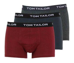 Tom Tailor Herren 3er Pack Boxershorts, Größe:S, Tom Tailor Boxershorts:430 Rot-Dunkel-Uni