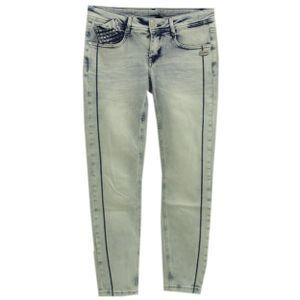 22370 Gang, Faye maled Cropped,  7/8 Damen Jeans Hose, Stretchdenim, blau weiß used, W 26