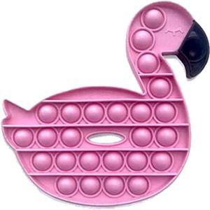 2 Stück 14.6*14*1.5cm Pop it Fidget Toys Rosa Flamingo Sensory Toys Set Kinder Erwachsene Dekompressions-Lernspielzeug