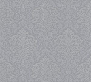 Architects Paper Vliestapete Alpha Ökotapete grau metallic 10,05 m x 0,53 m 324801 32480-1