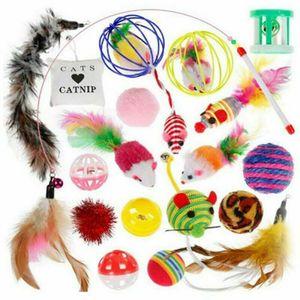 20x Katzen Spielzeug Set Katzenspielzeug Katzenangel Bällen Mäusen Cat Toy DE