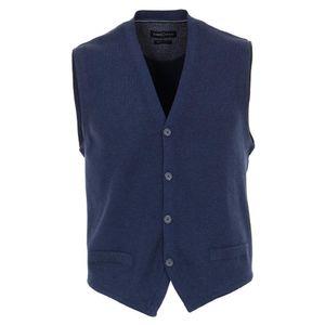 Größe L CASAMODA Sport Strickweste Blau mit Knöpfen 100% Baumwolle