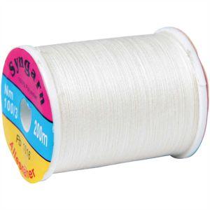 Syngarn (0,50 EUR / 100m) - Spule mit 200m (Leinen) Stärke Nm 100/3 - Allesnäher, Das Garn aus 100 % Polyester für alle Nähzwecke und Stoffarten