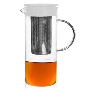 ORION Glaskanne Glaskrug Teekanne mit Teesieb 1,5l