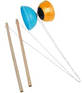 Happy People Geschicklichkeitsspiel Diabolo 12 cm blau/orange, Jonglieren
