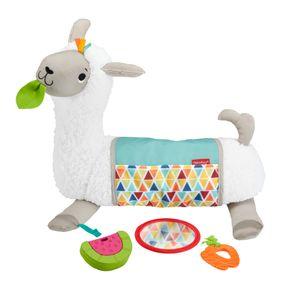 Fisher-Price 4-in-1 Lama Spielkissen Bauchlage, Baby-Spielzeug für Neugeborene