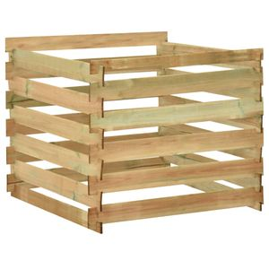 Neu Möbel Lattenrost-Komposter Holzkomposter 100x100x80 cm Imprägniertes Kiefernholz #Bestseller