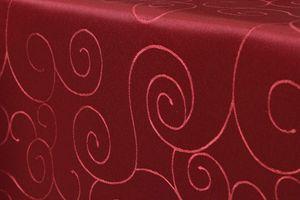 ORNAMENTE Tischdecke Quadratisch 130x130 cm WEINROT