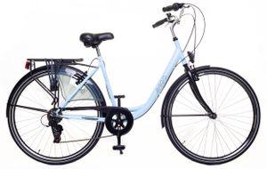 Amigo Style - Cityräder für Damen 28 Zoll - Damenfahrrad geeignet ab 180-185 cm - Citybike mit Shimano 6 Gang-Schaltung - Blau