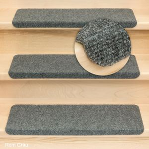 Metzker Stufenmatten Treppenmatten Ramon® Rechteckig Grau 15 Stück