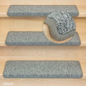 Metzker Stufenmatten Treppenmatten Monza Rechteckig Hellgrau 1 Stück